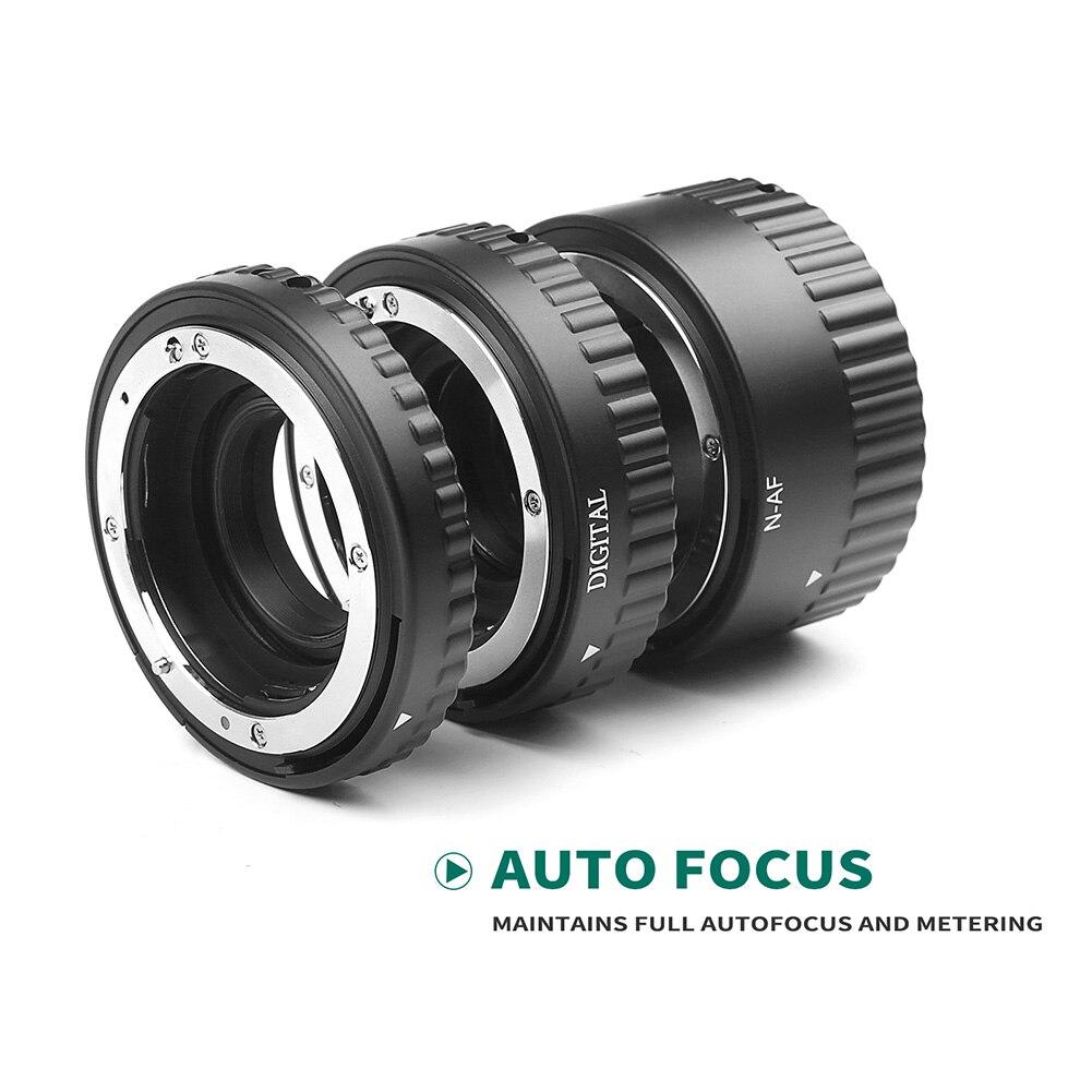 Nouvellement 1 Set Tube d'extension de caméra mise au point automatique micro-éperon anneau de photographie pour Nikon