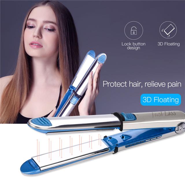 Plancha profesional de ajuste de temperatura alisador de cabello Nano titanio