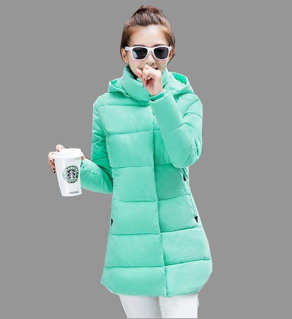 Última Moda de Invierno de Las Mujeres Abajo chaqueta Con Capucha Engrosamiento Súper caliente Medio-largo Abrigo de manga Larga Delgado yardas Grandes Parkas NZ246