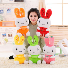 New Style Cute Fruits Rabbit Doll Soft Plush Toys Stuffed Animal Rabbit Plush Doll Pillow Children Toy Girls Gift tropical fruits doll bearbrick be rbrick 400