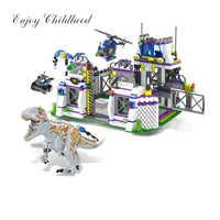 TS8000 Dinosaurier Basis Tyrannosaurus Flucht Bausteine Ziegel Kinder Spielzeug Für Kinder Weihnachten Geschenk Legoings Jurassic Welten Park