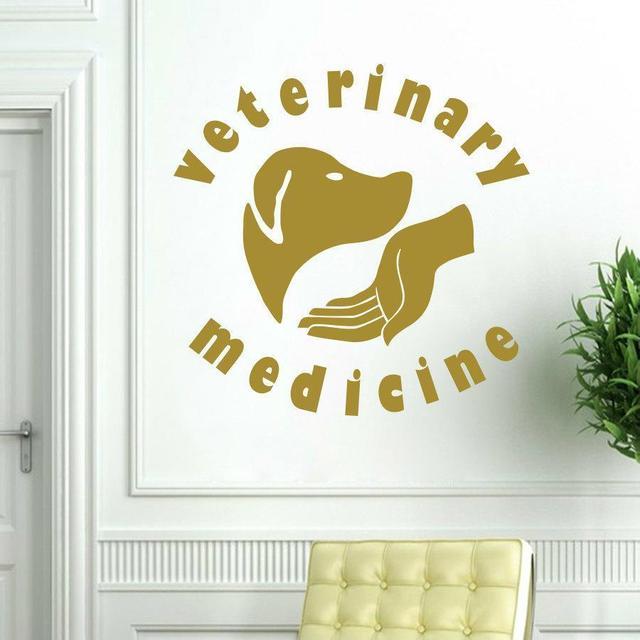 Pet Veterinary Wall Stickers Dog Medicine Pet Hospital Salon Decal ...