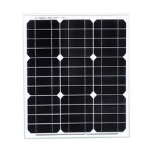 Monocrystalline Solar Panel 12v 40w Solar Battery Charger Solar Home System Caravan Car Camping RV Boat Marine Light LED цена в Москве и Питере