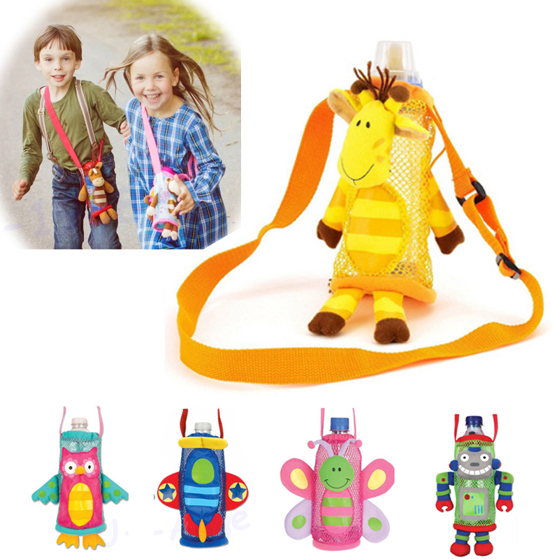 1pcs Children water bottle handle bags Cartoon Feeder Lagging Baby Bottle Huggers Infant feeding bottle bag case