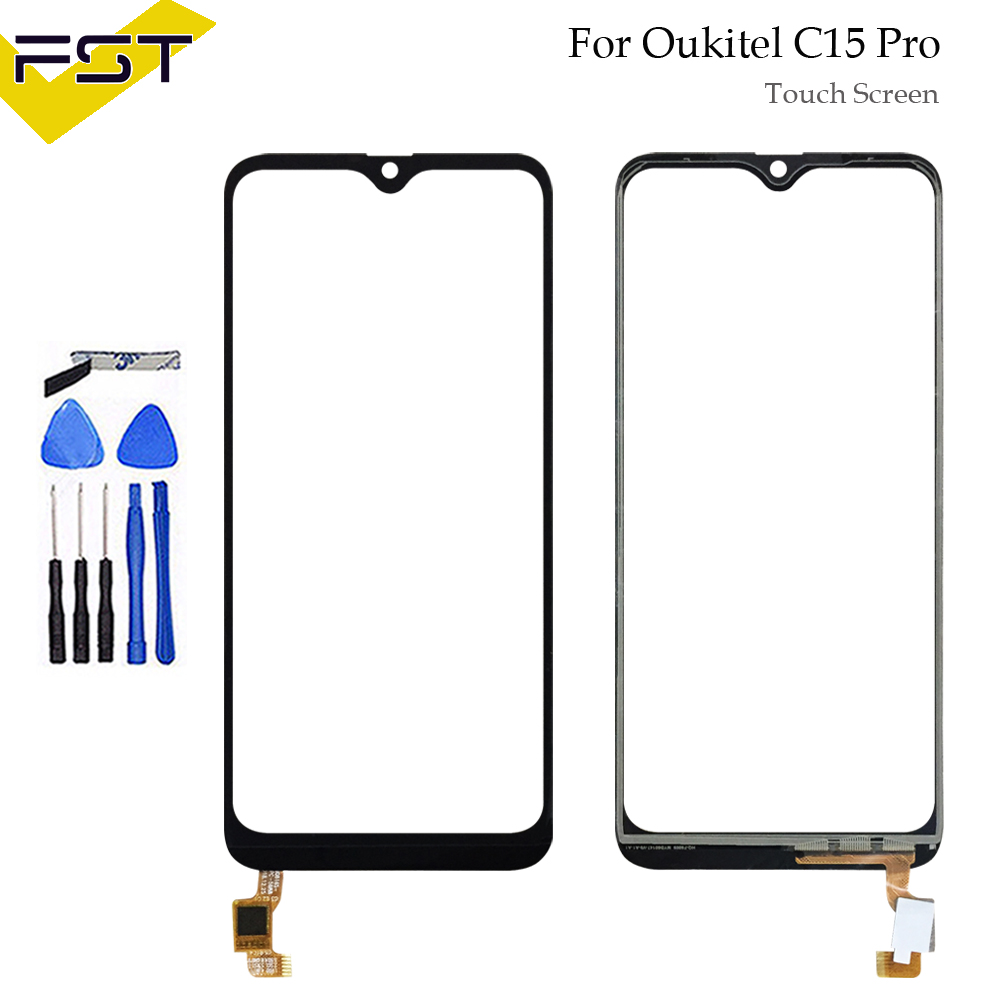 6.09''Touch Glass Panel For Oukitel C15 Pro Touch Screen Digitizer Sensor Front Outer Glass Lens Without LCD+ Tools