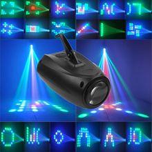 LED petit dirigeable 64 RGBW couleur changeante 10W Moonflower éclairage motif magique scène lumières projecteur pour KTV Pub Club fête