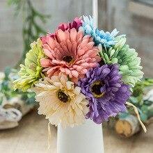 Colorful Rose Flowers Bud Wedding Bride Bouquet Silk Decorative  Decor Birthday Party