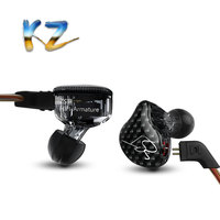 New KZ ZST Balanced Armature In Ear Earphone BA Driver Noise Cancelling Headset With Mic Replacement