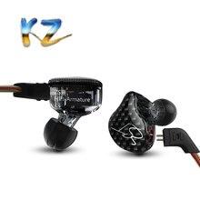 Новый KZ Знч балансными арматурными с динамическим наушники-вкладыши BA драйвер Шум Отмена гарнитура с микрофоном замена кабеля