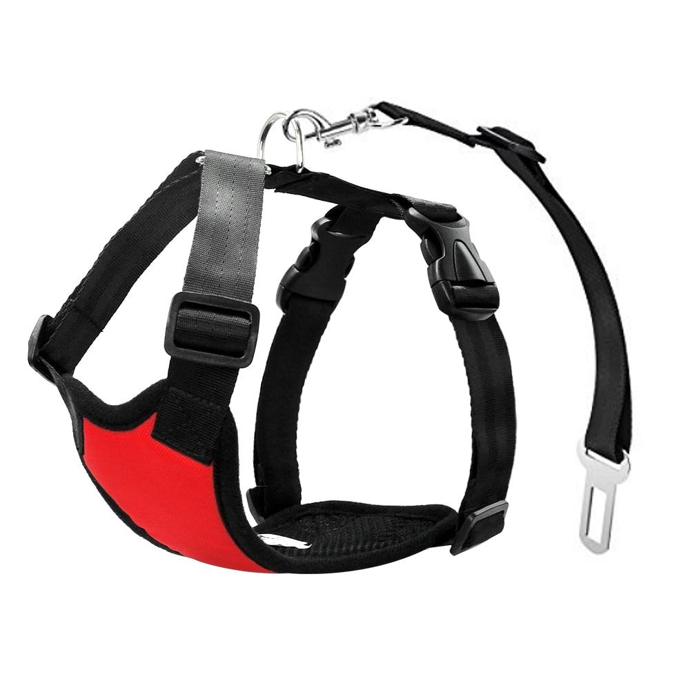 Nylon Dog Car Seat Belt Mesh Pet Dogs Safety Car Harness Soft Padded Vest Vehicle Seatbelt Lead Leash For Medium Large 9