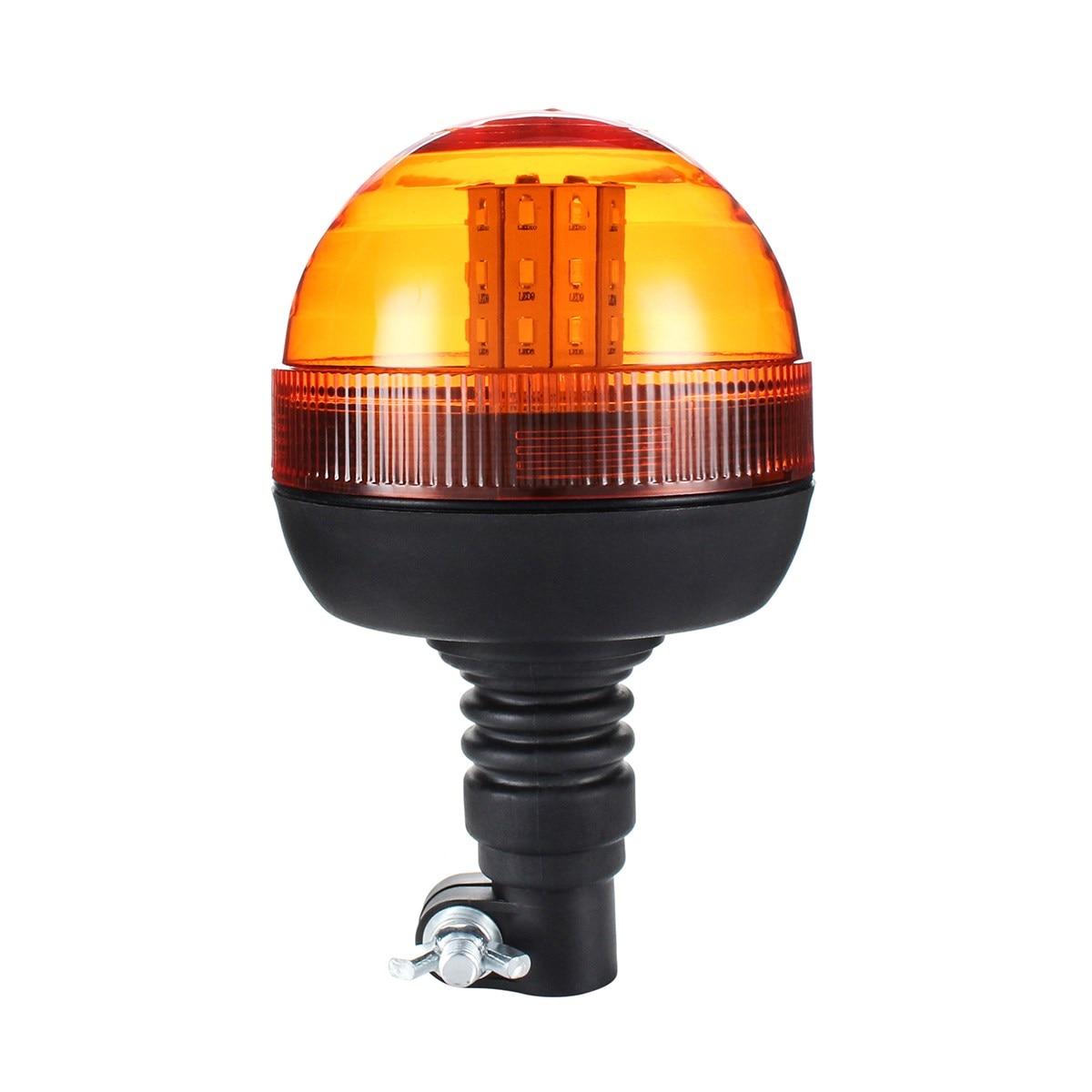 NEW LED Rotating Flashing Amber Beacon Flexible Tractor Warning Light 12V-24V Roadway Safety