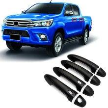 Для Toyota Hilux Revo 2015 2016 2017 2018 стайлинга автомобилей Экстерьер ABS черный/хромированные дверные ручки украшения Стикеры крышка 8 *