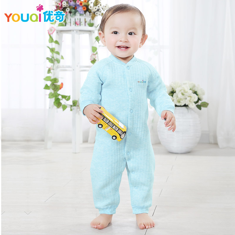 YOUQI Brand Winter Baby Romper Cotton Autumn Warm Toddler Baby Girls Boys Clothes Newborn 3 6 18 Months Jumpsuit Clothing autumn winter baby hats new fashion children warm ball hat double color boys and girls cotton caps beanies baby knitted hat