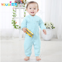 Baby Winter Romper Colored Cotton Autumn Spring Warm Clothes Both Girls And Boys Suited Newborn 3