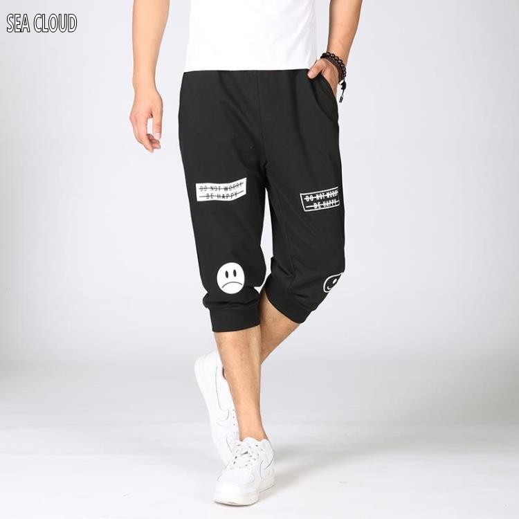 82 Free shipping shorts male loose Harem hiphop plus size men shorts big print short trousers 6xl hip-hop shorts men