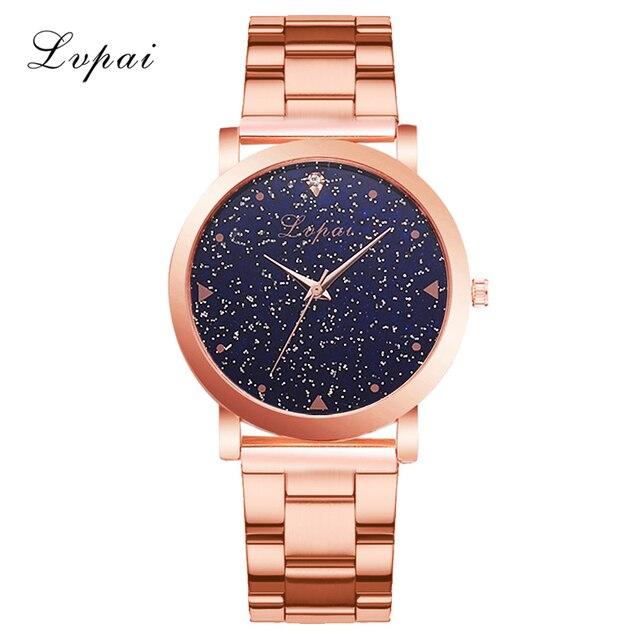 Women Dress Watches Rose Gold Stainless Steel Lvpai Brand Fashion Ladies Wristwatch Creative Quartz Clock Cheap Luxury Watches 5