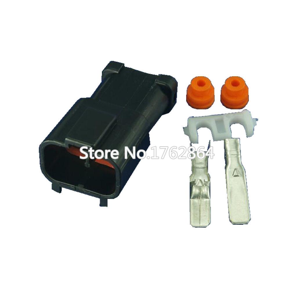 10pcs 2-hole plastic parts car connector with terminal DJ70253A-6.3-11