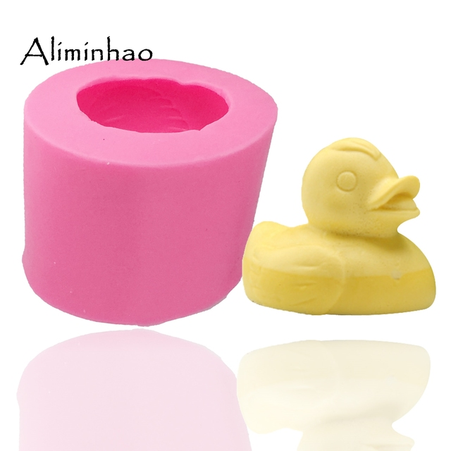 small yellow duck shape Fondant cake mold silicone sugar craft mould chocolate mold decoration for cake  kitchen tools