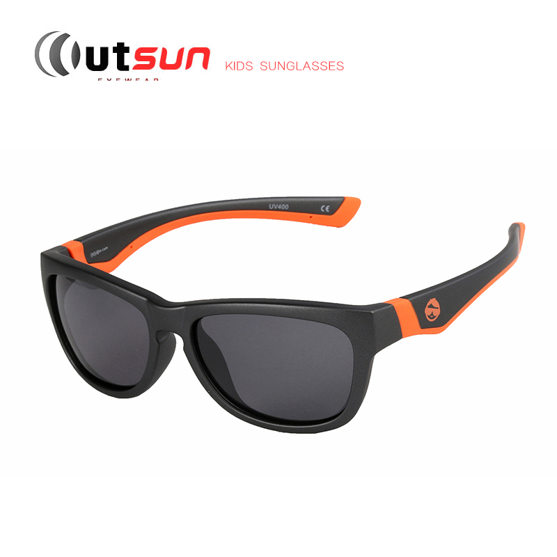 OUTSUN Super Light Fashion Kids Sunglasses Polarized High Quality Double Injection Boys/Girls UV400 Sun Glasses Outdoor Shades