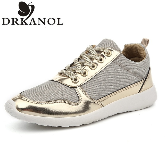 2017 NEW Women Casual Shoes Spring Summer Mesh Shoes Breathable Fashion Shoes Comfortable Lace-Up Women Trainers Plus Size 36-41