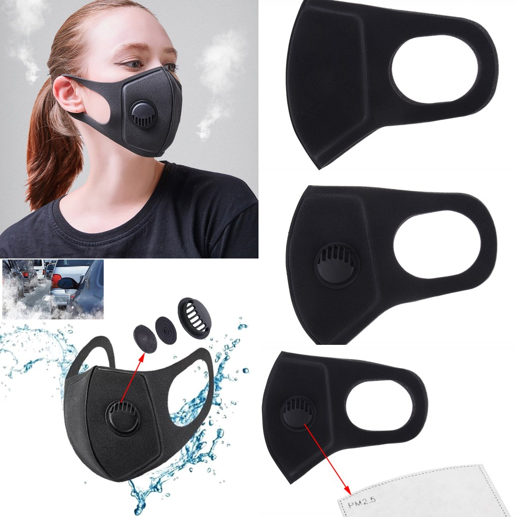1Pcs Anti Pollution Mask Face Mask Dust Mask PM2.5 Activated Carbon Filter Insert Can Be Washed Reusable Mouth Masks