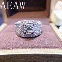 14 карат Мужские украшения 1ct Moissanite мужское кольцо белое золото кольцо для мужчин 585 14 Белое золото ювелирные изделия обручальные украшения