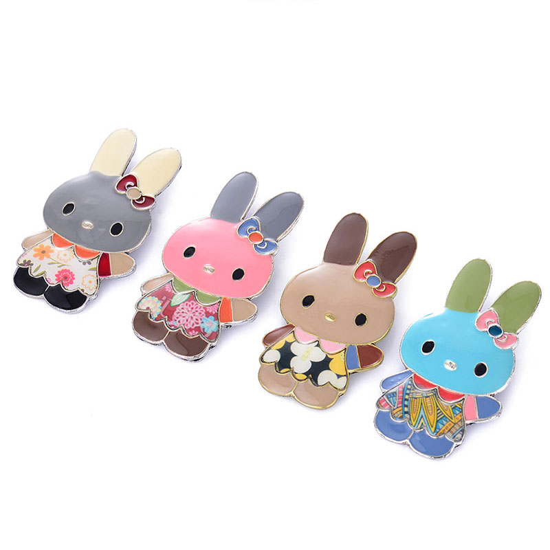 Cartoon Rabbit Brooch Pin Trendy Chic Charming Animal Brooches For Men And Women Fashion Decoration Girls Boys Jewelry Gifts in Brooches from Jewelry Accessories