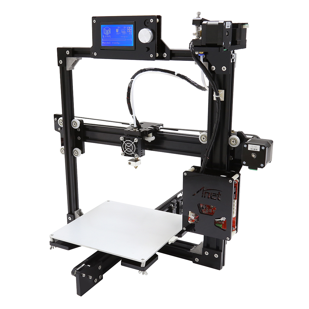 Anet A2 Metal Frame Easy Assembly 3d Printer Machine LCD 2004/12864 Optional DIY 3D Printer Kit Auto-Leveling Part Impressora 3d anet a2 12864 large aluminium metal 3d printer with lcd display