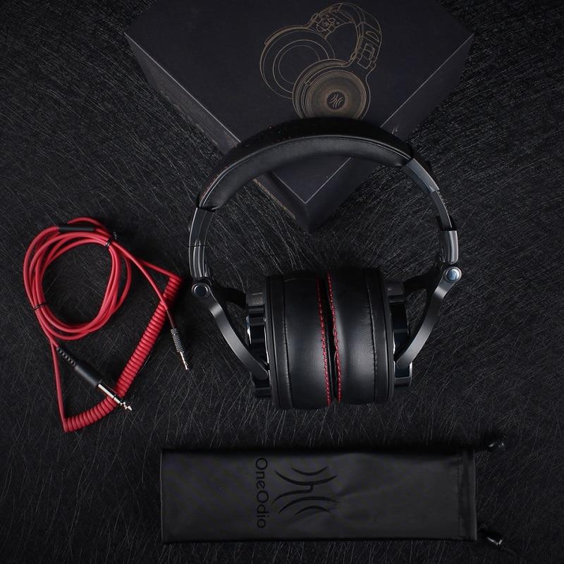 Oneodio DJ Studio Headphone For Computer Over Ear Headband Stereo Monitor DJ Headphones With Microphone Earphone For Xiaomi