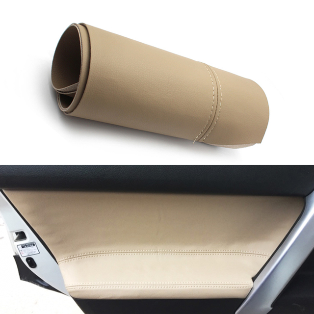 For Toyota Prado 2010 2011 2012 2013 2014 2015 2016 2017 2018 4pcs/set Car Door Handle Armrest Panel Microfiber Leather Cover