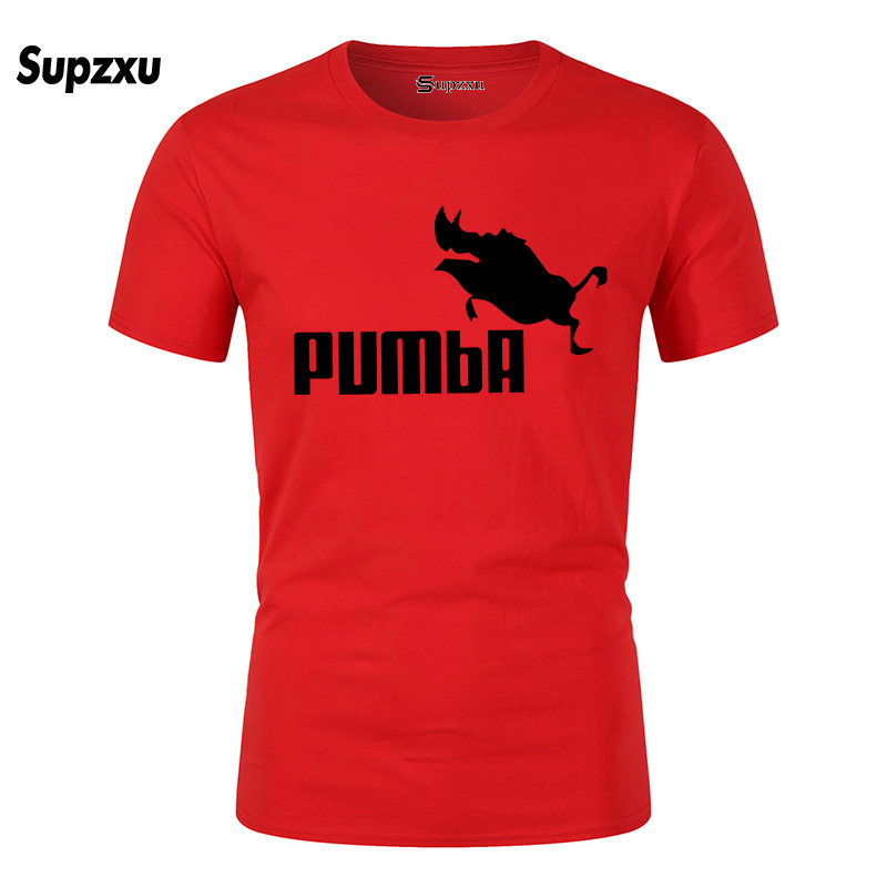 2019 funny tee cute t shirts homme Pumba men casual short sleeves cotton tops cool tshirt summer jersey costume t-shirt #062