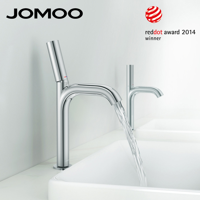 JOMOO Basin Faucet Reddot Award Chrome Bathroom Sink Faucet Mixer Tap Single Handle Single Hole Luxury Quality Faucet