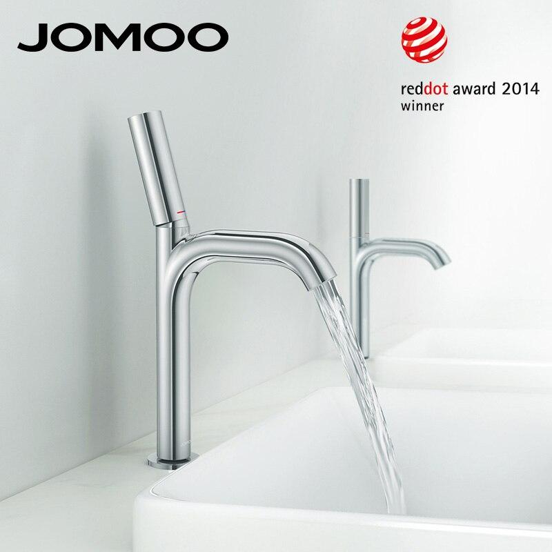 JOMOO Bassin Robinet Reddot Award Chrome Salle De Bain lavabo robinet mélangeur Seule Poignée Simple Trou De Luxe Qualité Robinet