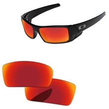 Fire Red Mirror Polarized Replacement Lenses For Gascan Small Not for Gascan Sunglasses Frame 100% UVA & UVB Protection
