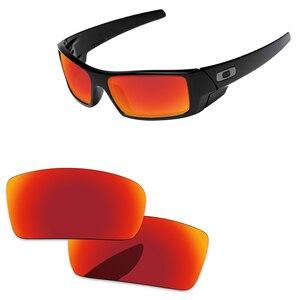 Image 1 - Fire Red Spiegel Gepolariseerde Vervanging Lenzen Voor Gascan Kleine Niet voor Gascan Zonnebril Frame 100% UVA en UVB Bescherming