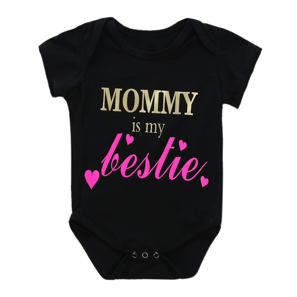 Baby Girls Boys Clothing Baby Clothes Cute Cotton Short Sleeve Letter Printed Infant bebe costumes baby Rompers