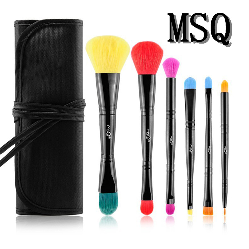 MSQ  6pcs / set Makeup Brushes Kit Portable Size Double Head Foundation Eye shadow Brushes Make up Tools Hot мысляева и н государственные и муниципальные финансы