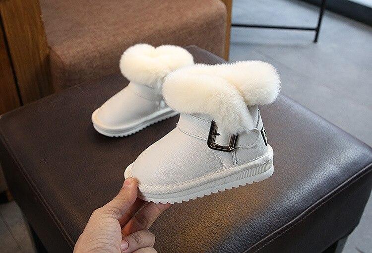 Stiefel Offizielle Website Winter Warme Blume Baby Stiefel Weihnachten Weichen Boden Runde Zehe Slip-on Top Qualität Baby Mädchen Jungen Stiefel Schnee Stiefel
