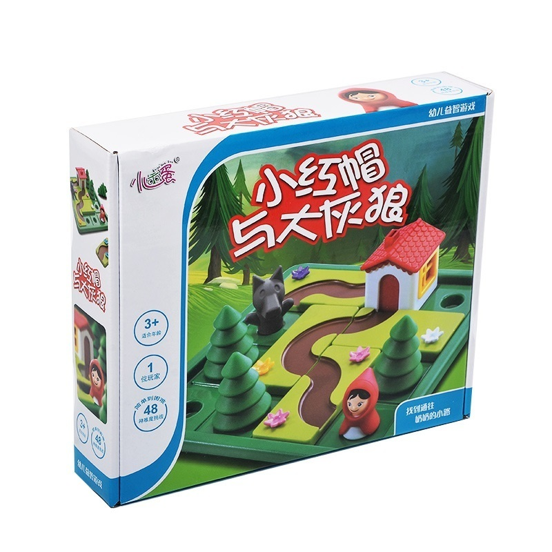 Little Red Riding Hood Smart IQ Challenge Board Games Puzzle Toys For Children With English Solution Speelgoed Brinquedo Oyunc55