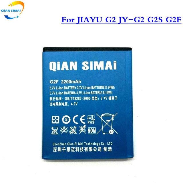 QiAN SiMAi 1PCS 2200mAh JIAYU 3.7V Li-ion New battery for JIAYU G2 JY-G2 G2S G2F Batterij Bateria
