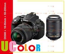 เดิมNikon D5300กล้องดิจิตอลSLR + Nikkor 18-55มิลลิเมตรVRและAF-S 55-200มิลลิเมตรVRเลนส์
