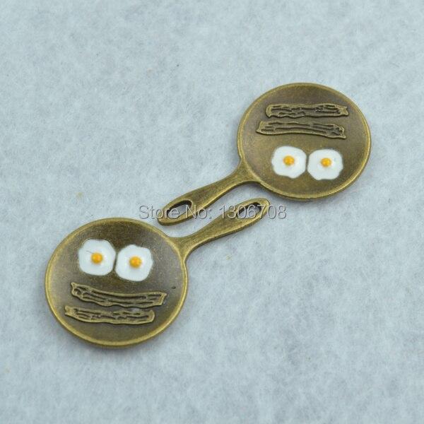 diy jewelry accessories 20pcs/lot metal antique bronze charms floating saucepan pendant fit making necklace Z42328