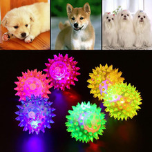1 pcs Flashing Light High Bouncing Balls dog sound toy Novelty Luminous Elastic Ball Sensory Hedgehog Children toy Pets Toy S2