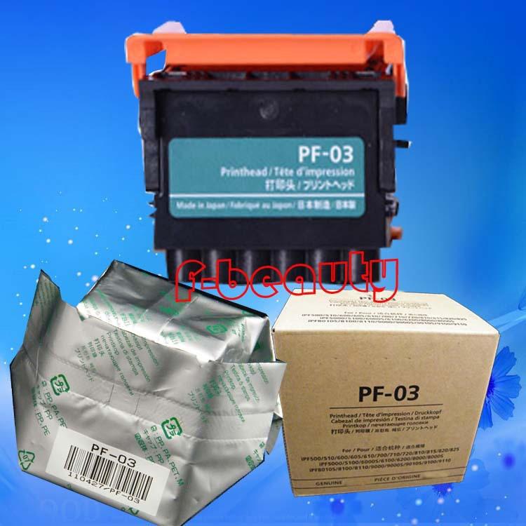 New Original PF-03 Printhead for Canon iPF500 510 600 610 720 810 825 5000 5100 6000S 6200 8000 8010S 8100 9000 9100 Print Head original best price ipf printer pf 03 print head for canon ipf5000 5100 6000s 6100 6200