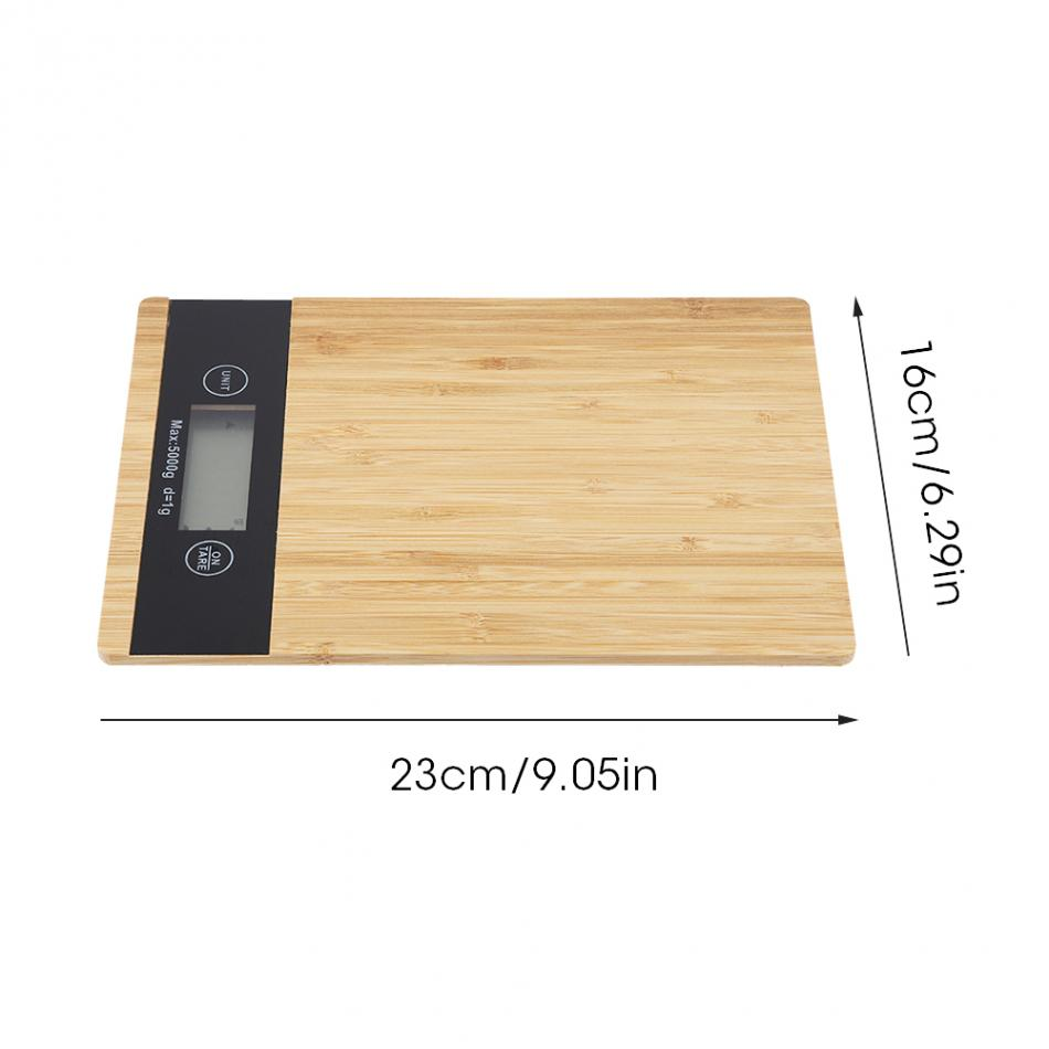 Digital Food Scale and Kitchen Scale with Wooden Surface And LED Display 11
