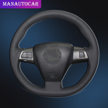 Car Braid On The Steering Wheel Cover for Toyota Corolla 2011 2012 2013 RAV4 Car-styling Auto Covers