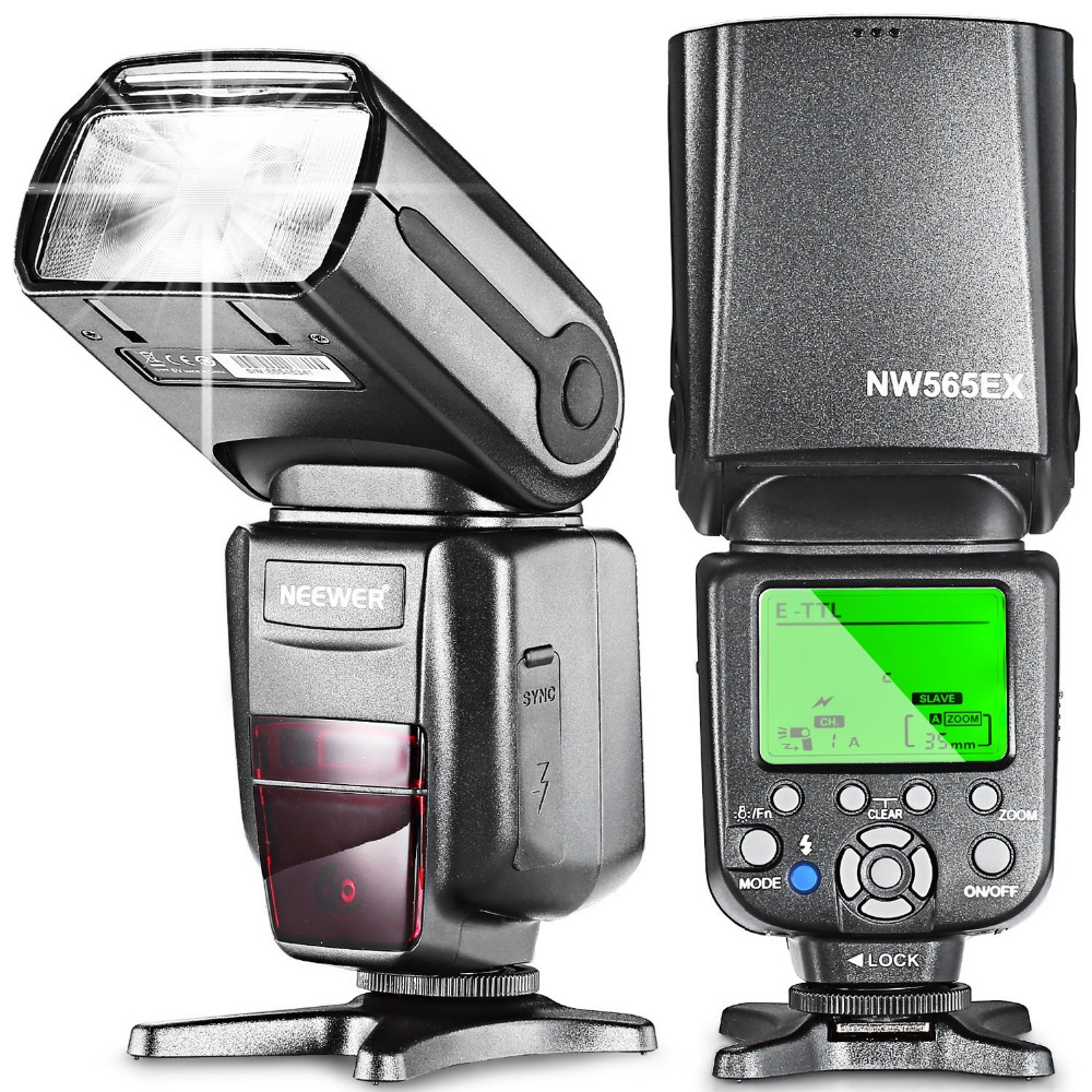 Neewer NW-565 E-TTL Slave Speedlite Flashlight+Flash Diffuser for Canon 5D II/7D/6D/60D/700D/30D/40D/650D/all Other Canon Models цена и фото