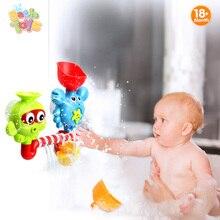 Детские игрушки ванны ванна Осьминог и крабов бани-Игровой Набор Пластиковые Игрушки для ванны повернуть глаза поток воды Водопад игрушки для ванной подарок для детей