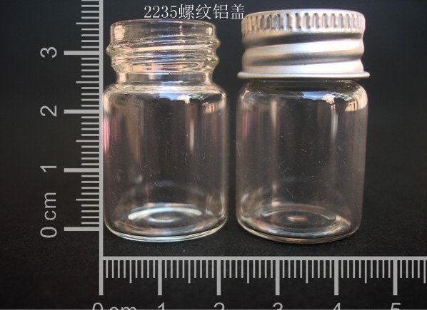10 pcs 6ml 22x35mm Small Clear Glass Bottle Vial Pendant With Aluminum Lid For Wedding Holiday Decoration Christmas Gifts