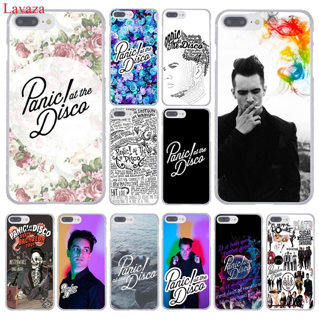 newest 93534 2a977 US $1.99 22% OFF|Lavaza Panic At The Disco Hard Phone Case for Apple iPhone  XR XS Max X 8 7 6 6S Plus 5 5S SE 5C 4S 10 Cover 7Plus 8Plus Cases-in ...